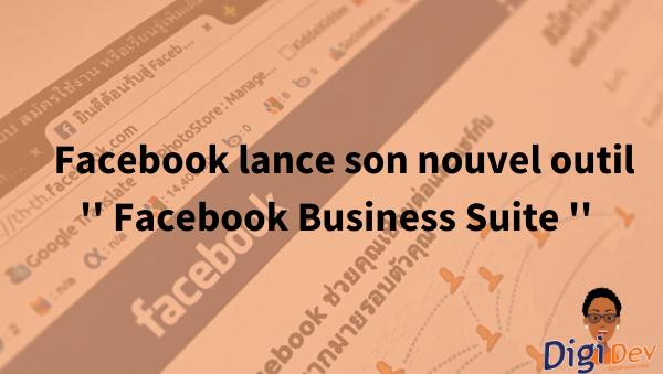 Business Suite le nouvel outil de Facebook