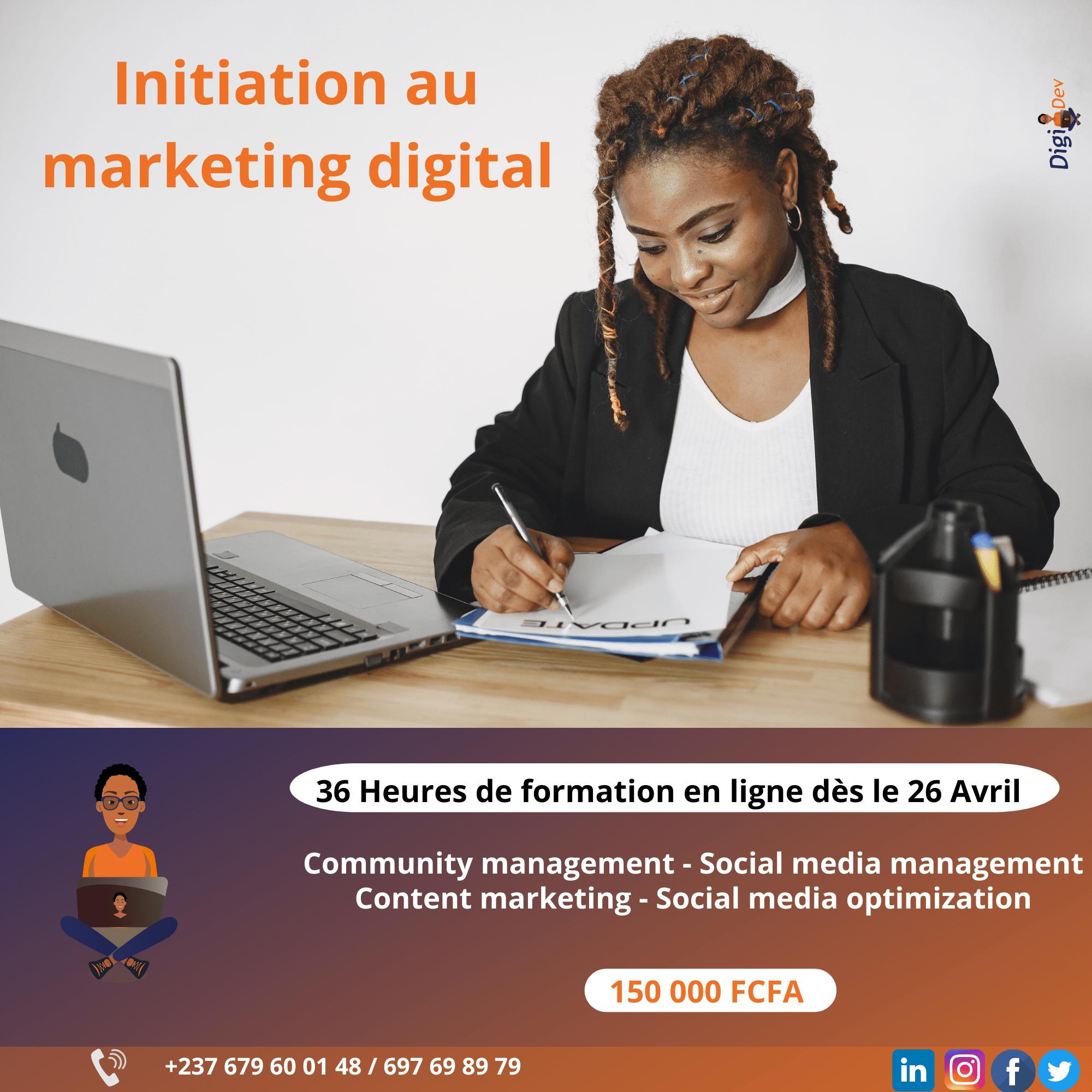 Initiation au marketing digital Digi Dev